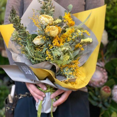 IMG_2 ドライフラワーの花束-Yellow-