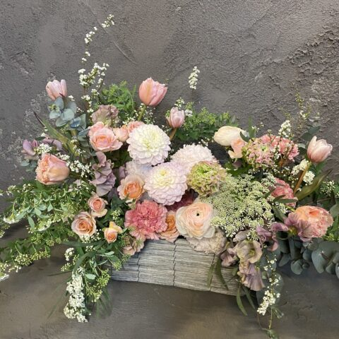 IMG_1 生花のアレンジメント-Pink-
